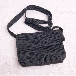 The Sak Original Crochet Purse Small Black